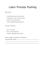 Labor Process Pushing