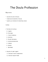 Doula Profession Module Outline