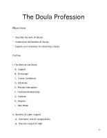 Doula Profession Module Outline