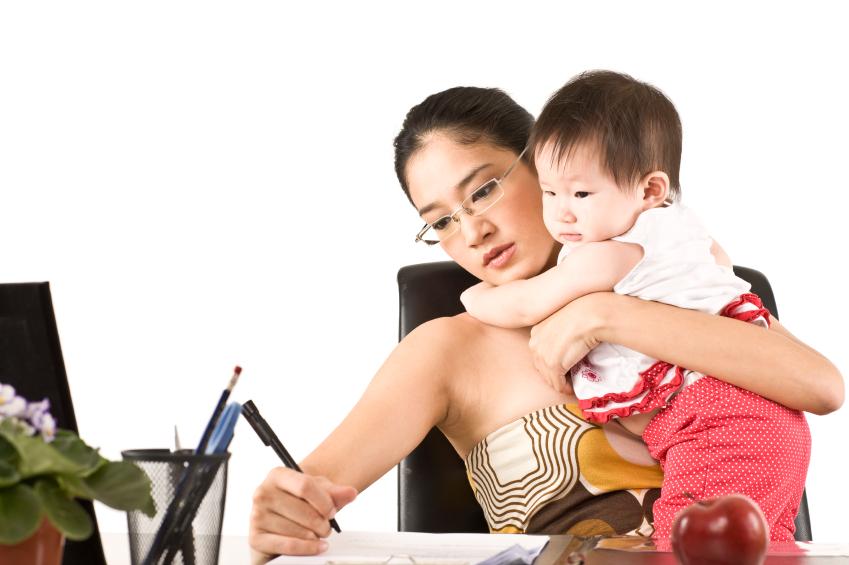 busy doula mom