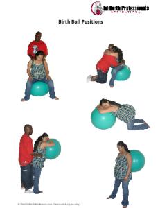 birth ball worksheet