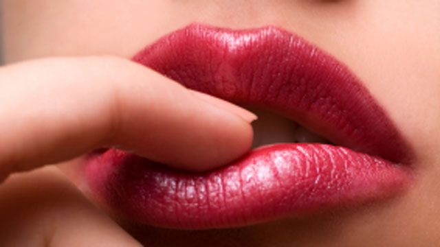 touch lips